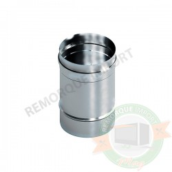 Tuyau droit à 0,25 m en acier inoxydable / Ø 200 mm