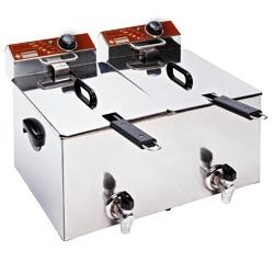 Friteuse double 2 x 8L