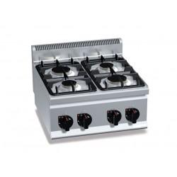 Réchaud de table à gaz de table - 3 feux vifs