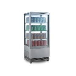 Vitrine réfrigérée panoramique 108 litres Argent