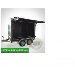 Remorque rôtisserie eco vide 2 essieux 250 x 150 x 180