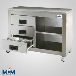 Armoires 3 tiroirs et étagère MCM