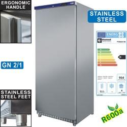 Armoire frigorifique GN 2/1, ventilée, 600 litres. acier inox