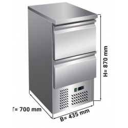 Table réfrigérée 2 tiroirs