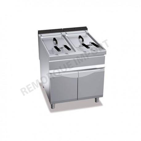 Friteuse à gaz 22 + 22 litres 20 kW