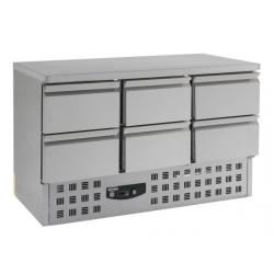 Table réfrigérée 136 cm x 70 cm - 4 tirroirs