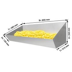 Bac à frites de précuisons en acier inoxydable