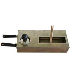 """Kit de 2 spatules, 2x """"T"""" en bois, tampon graisseur"""