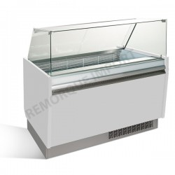Comptoir à glace 125 x 92cm Blanc